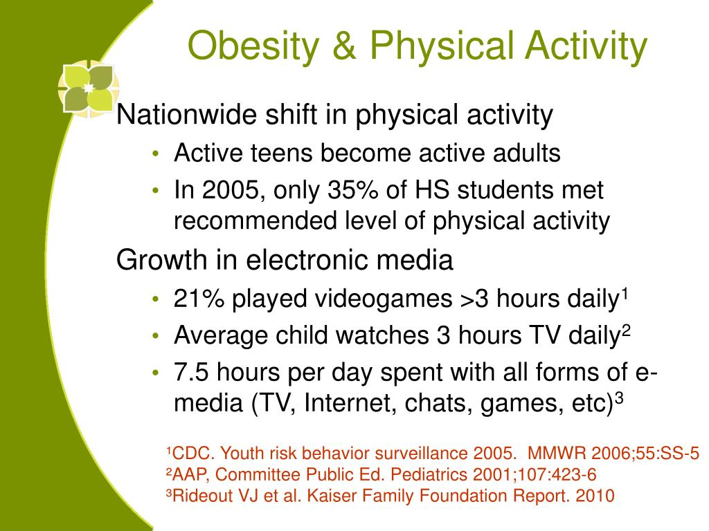 Nationwide shift in physical activity