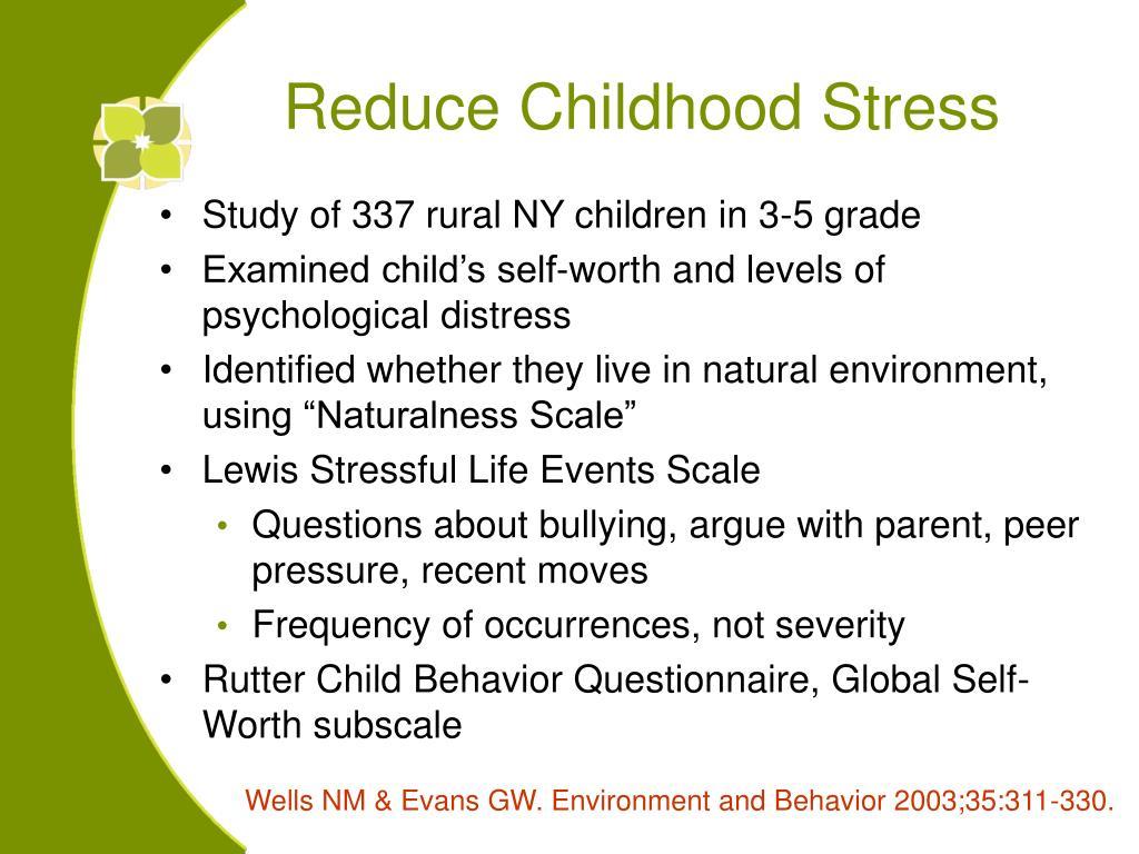 Reduce Childhood Stress