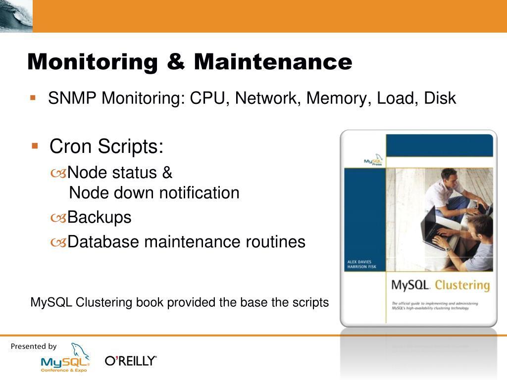 Monitoring & Maintenance