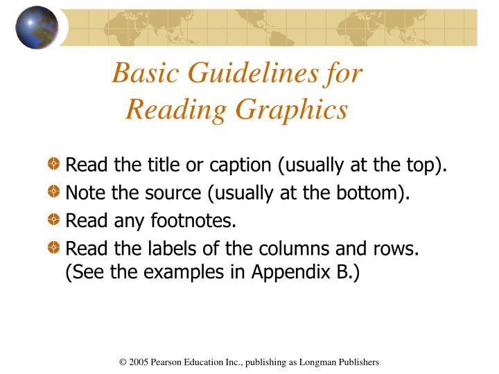 Basic guidelines for reading graphics