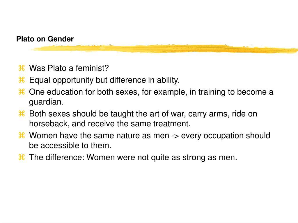 Plato on Gender