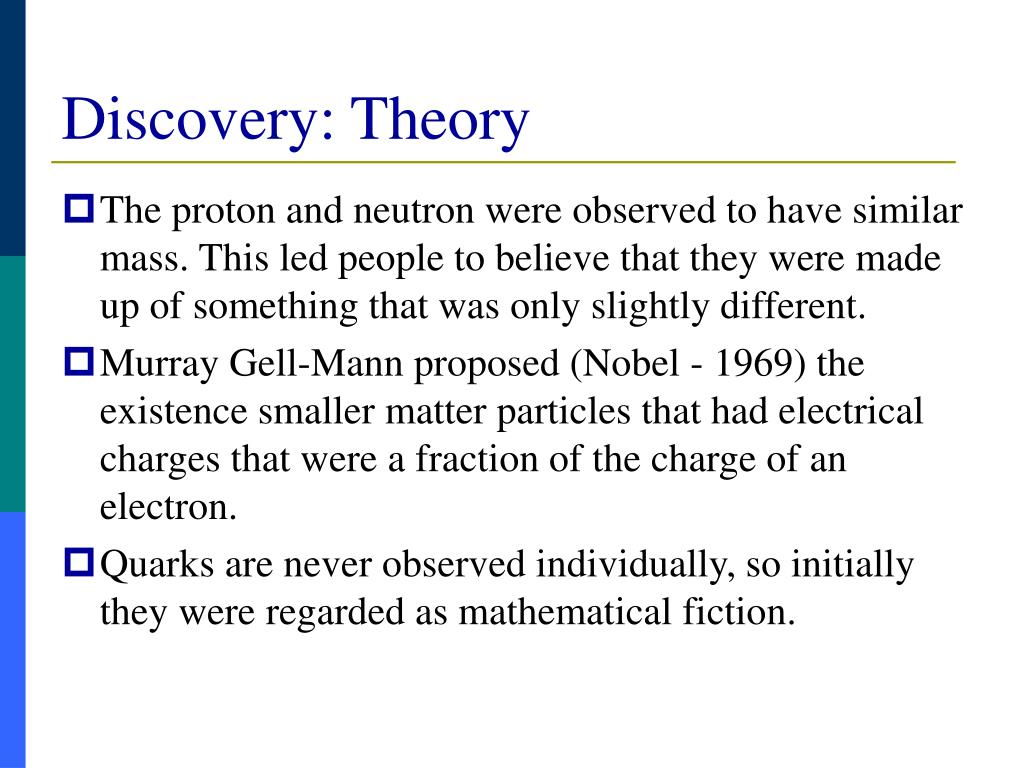 Discovery: Theory