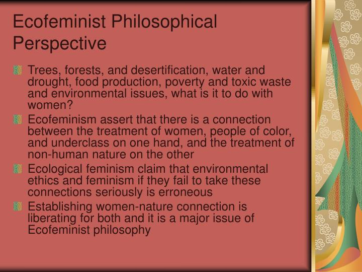Ecofeminist philosophical perspective
