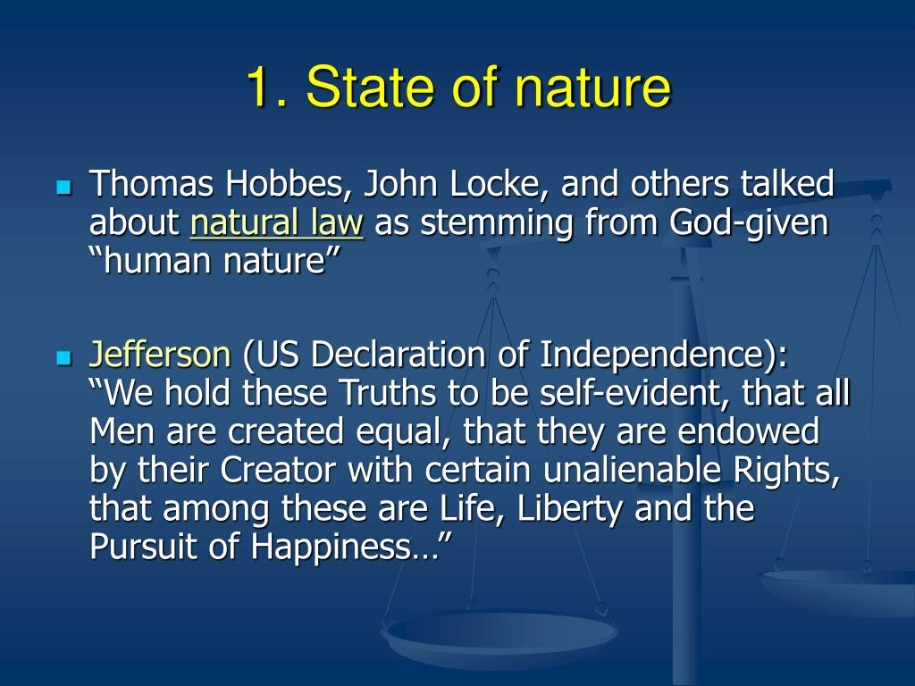 1. State of nature