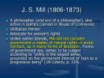 j s mill 1806 1873