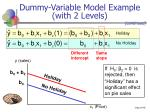 dummy variable model example with 2 levels46