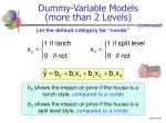 dummy variable models more than 2 levels49