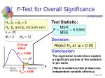 f test for overall significance27