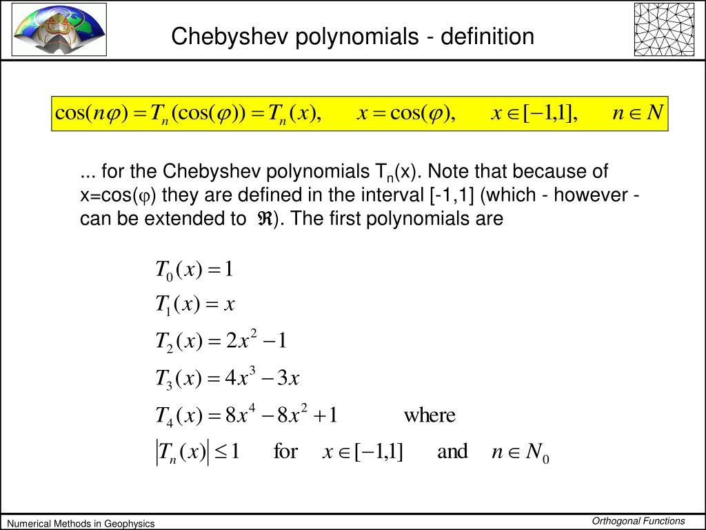 Chebyshev polynomials - definition