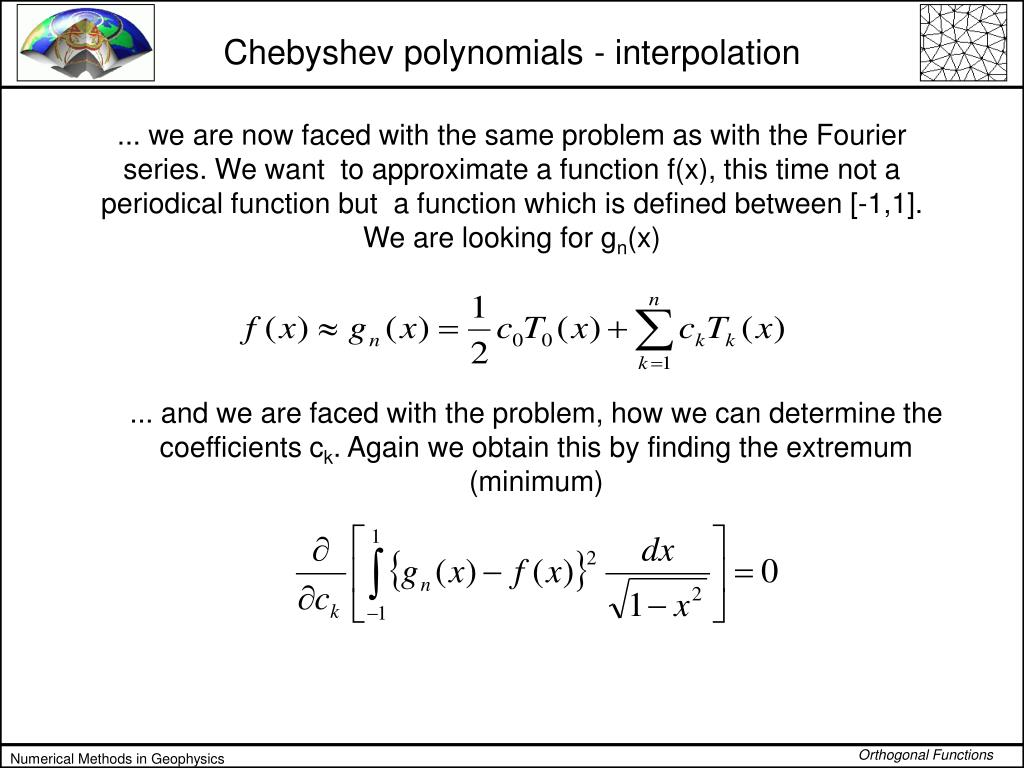Chebyshev polynomials - interpolation