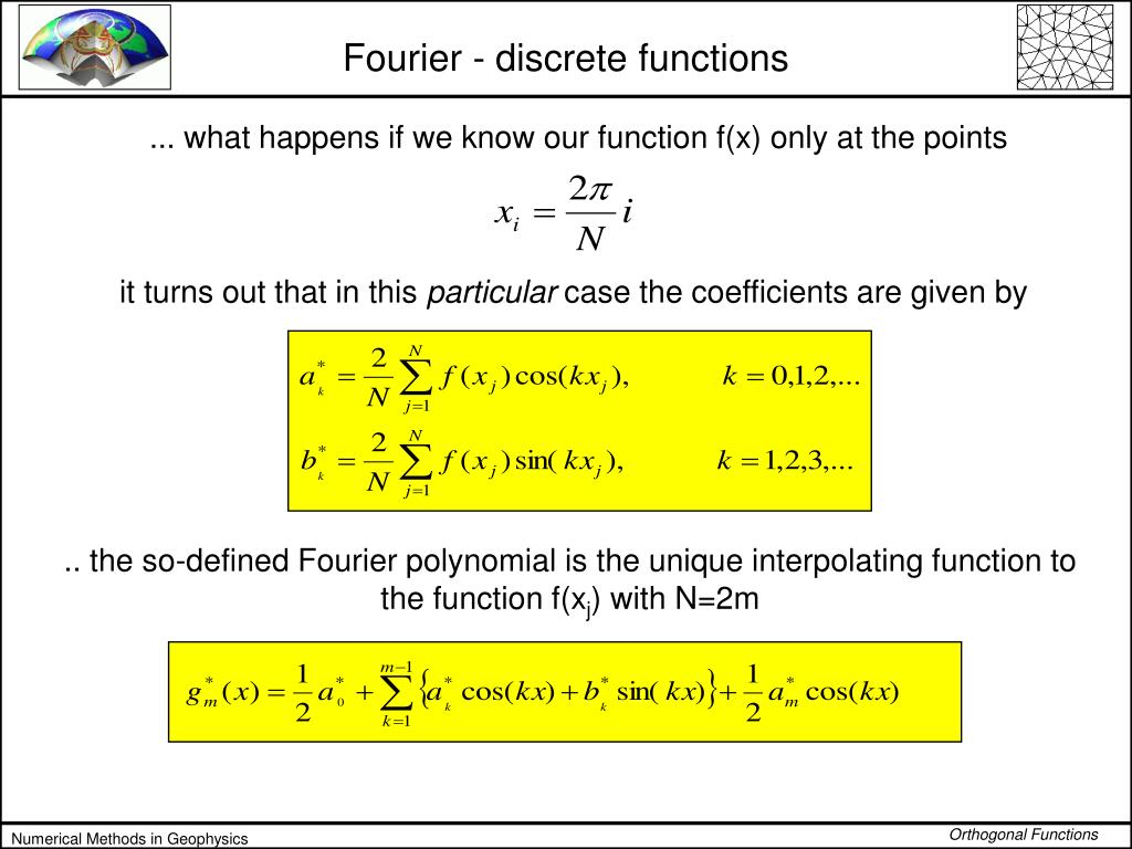 Fourier - discrete functions