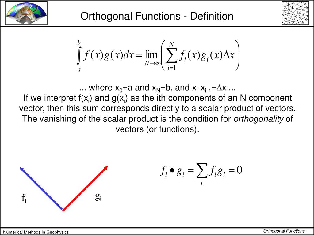 Orthogonal Functions - Definition