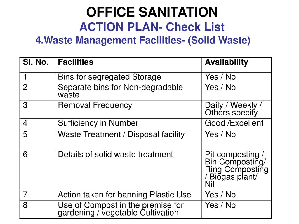 OFFICE SANITATION