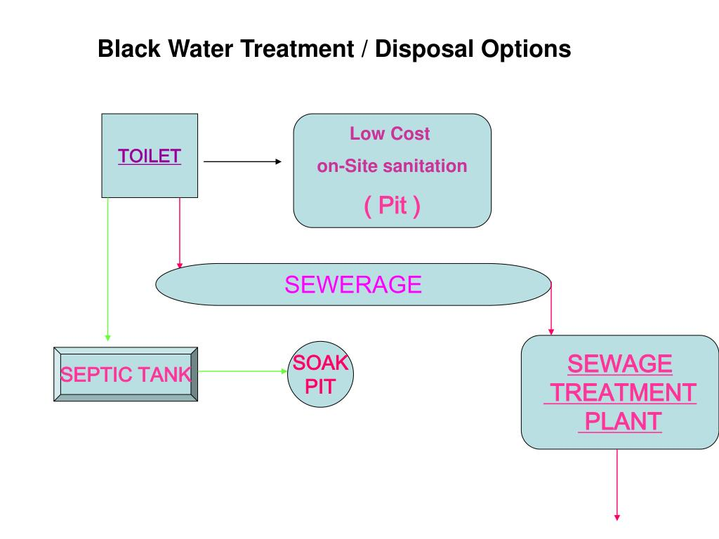 Black Water Treatment / Disposal Options