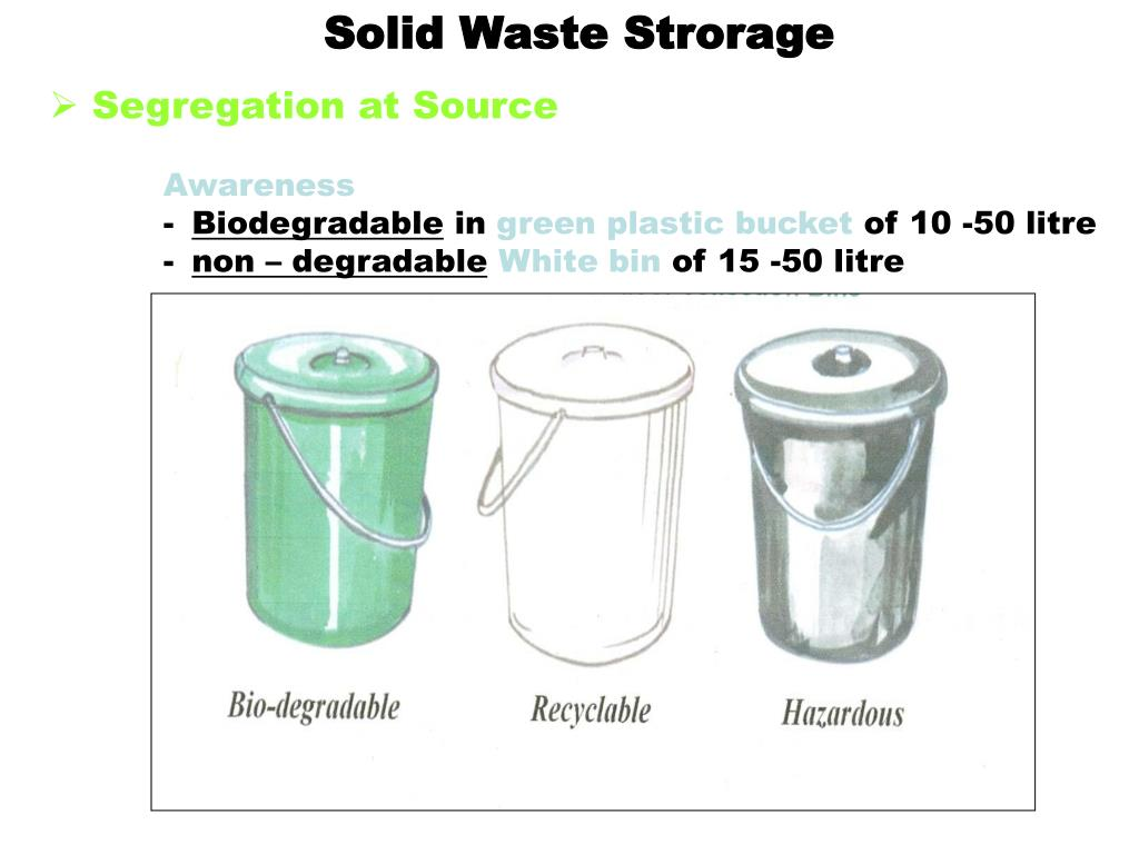 Solid Waste Strorage