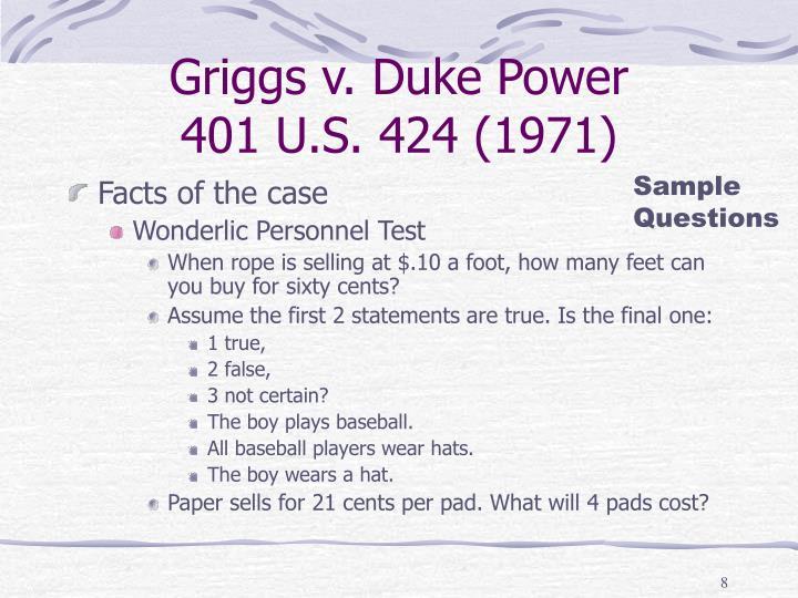 Griggs v. Duke Power
