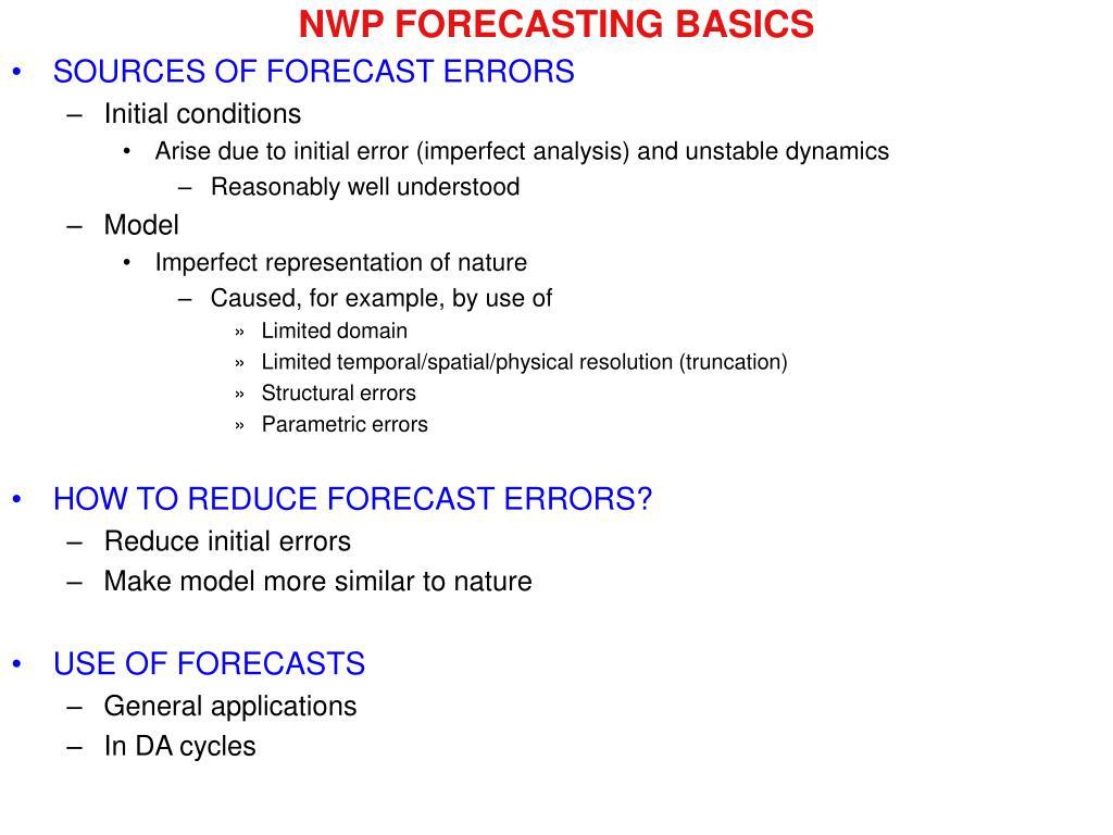 NWP FORECASTING BASICS