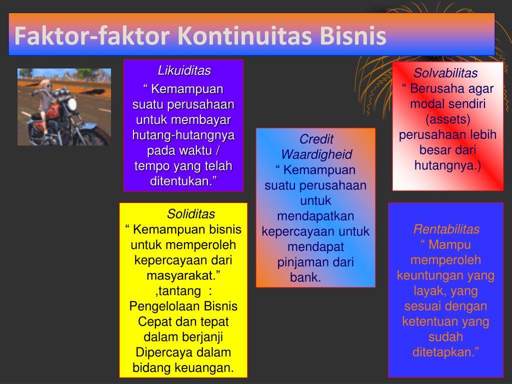 Faktor-faktor Kontinuitas Bisnis