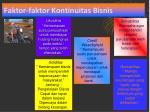 faktor faktor kontinuitas bisnis