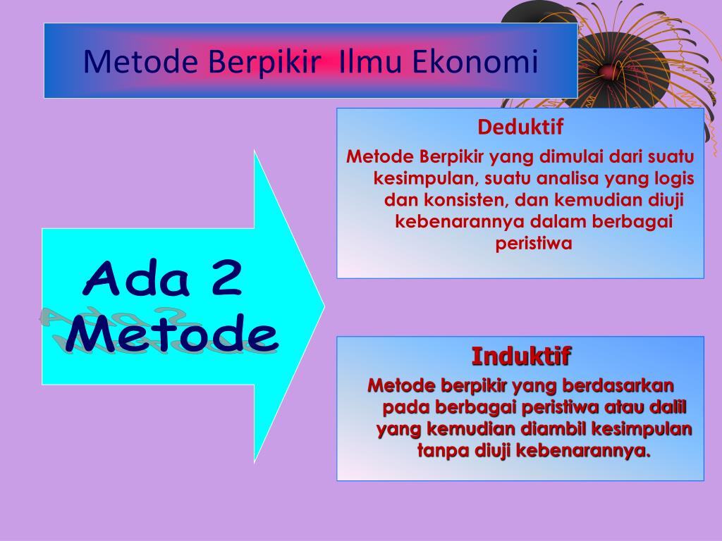Metode Berpikir  Ilmu Ekonomi