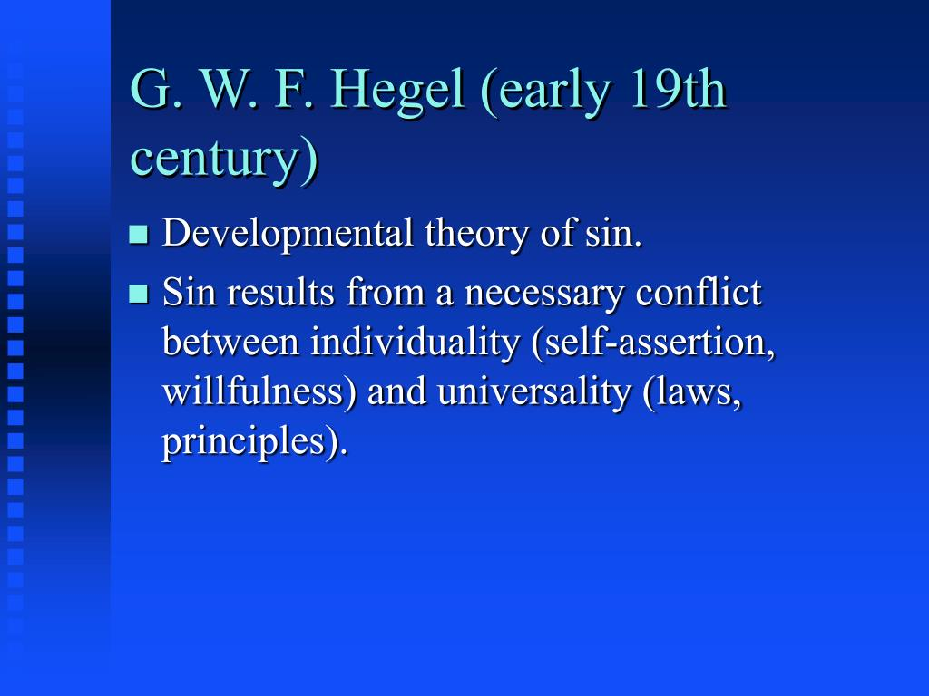 G. W. F. Hegel (early 19th century)