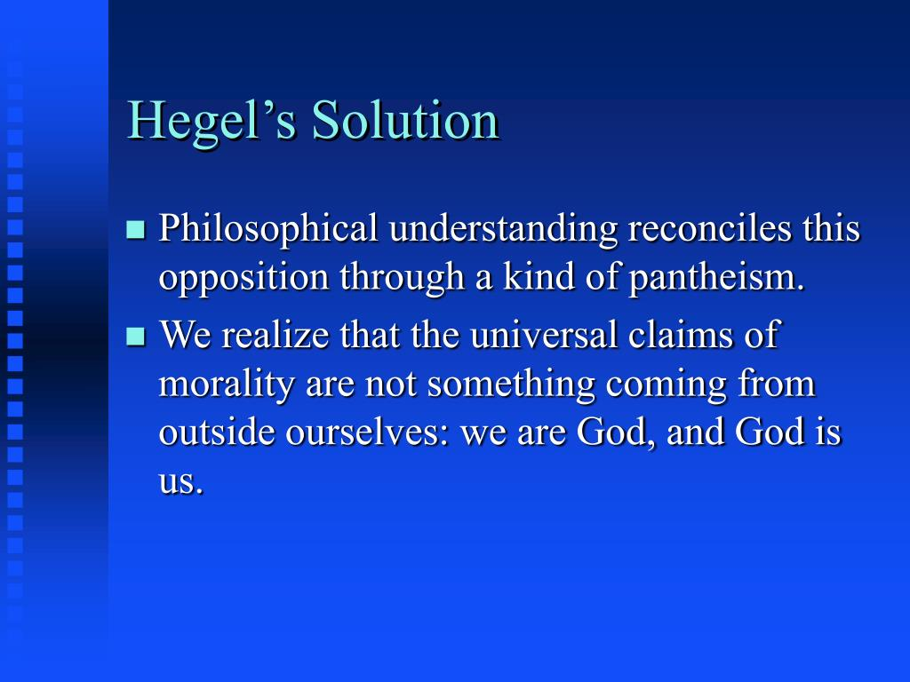 Hegel's Solution