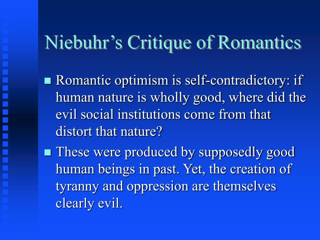 Niebuhr's Critique of Romantics