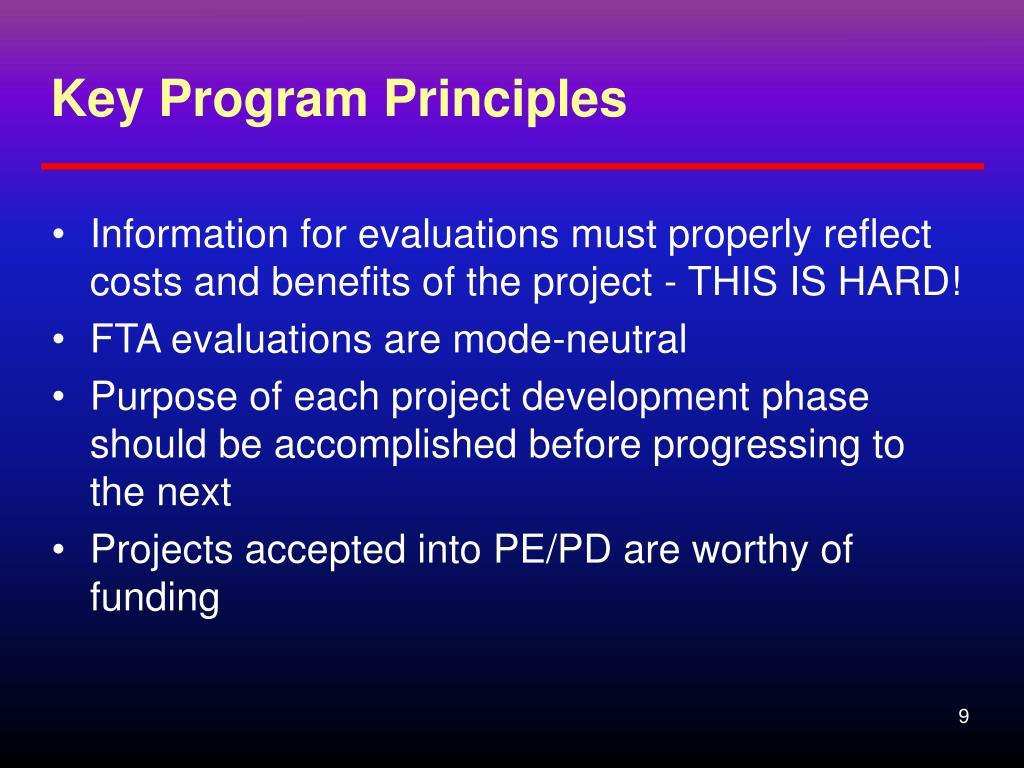 Key Program Principles
