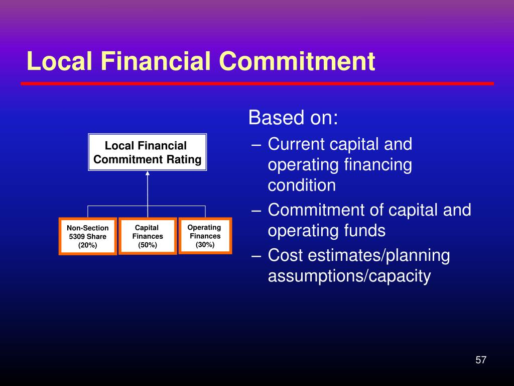 Local Financial Commitment