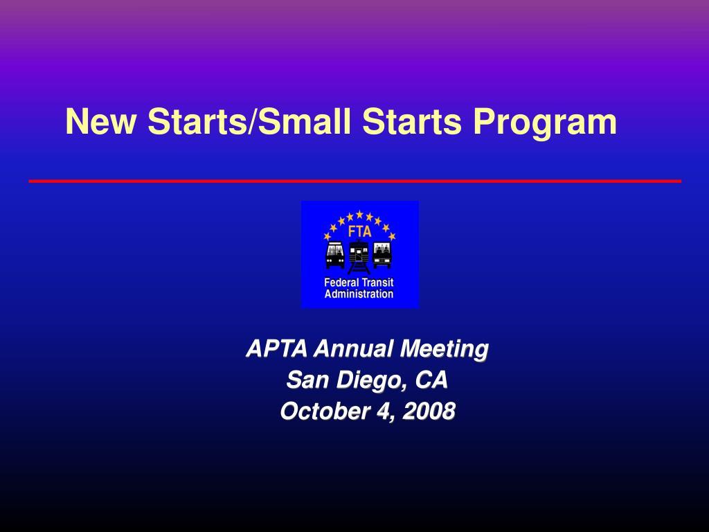 New Starts/Small Starts Program