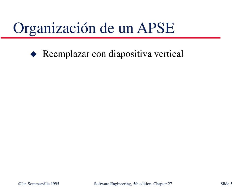 Organización de un APSE