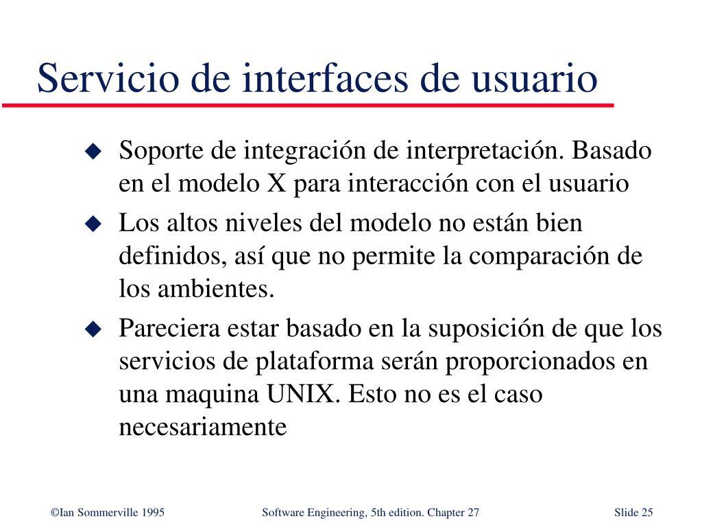 Servicio de interfaces de usuario
