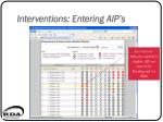 interventions entering aip s