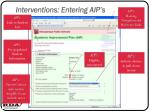 interventions entering aip s15