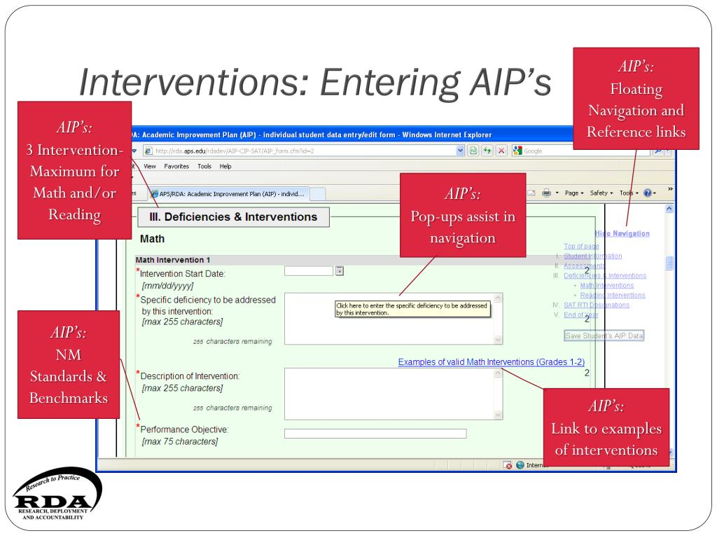 Interventions: Entering AIP's