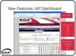 new features aip dashboard