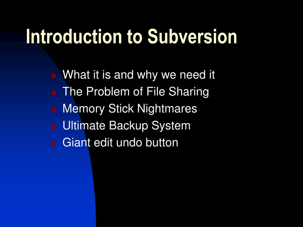 Introduction to Subversion