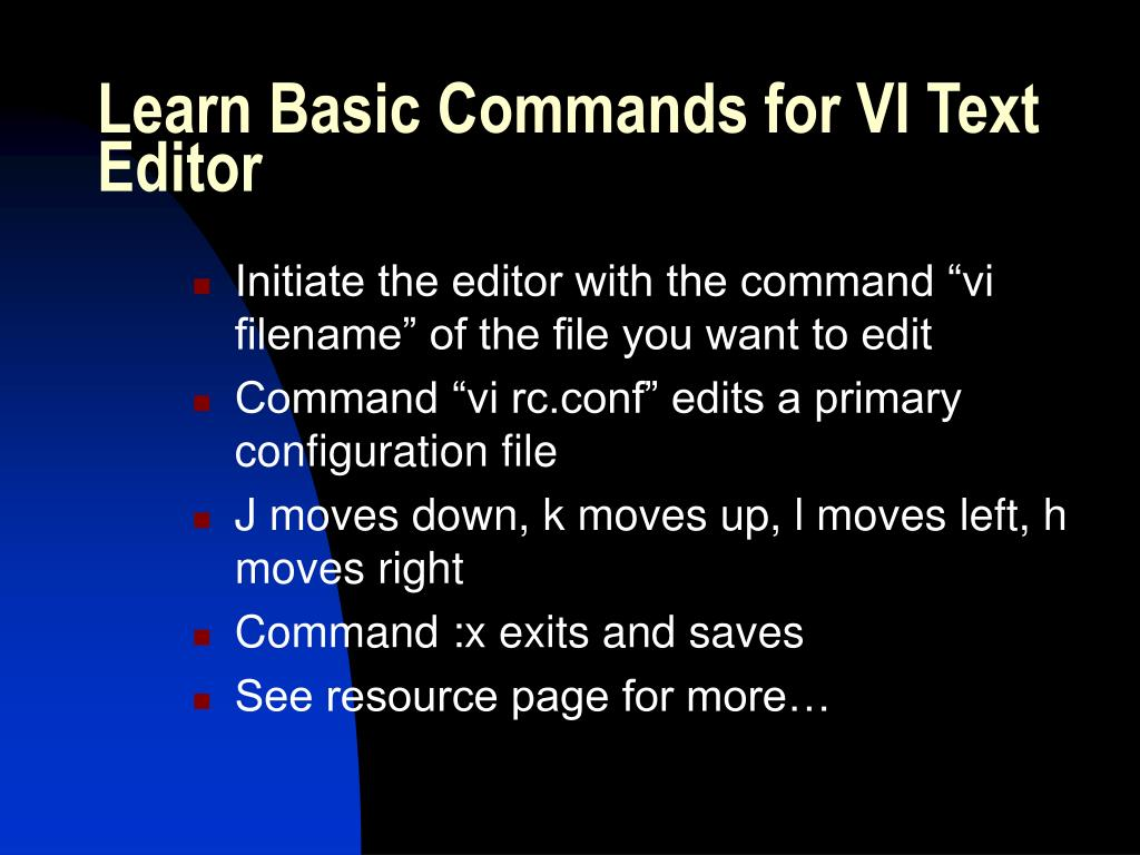 Learn Basic Commands for VI Text Editor