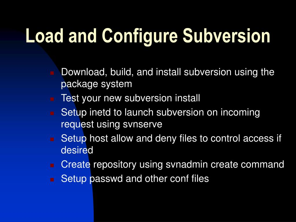 Load and Configure Subversion