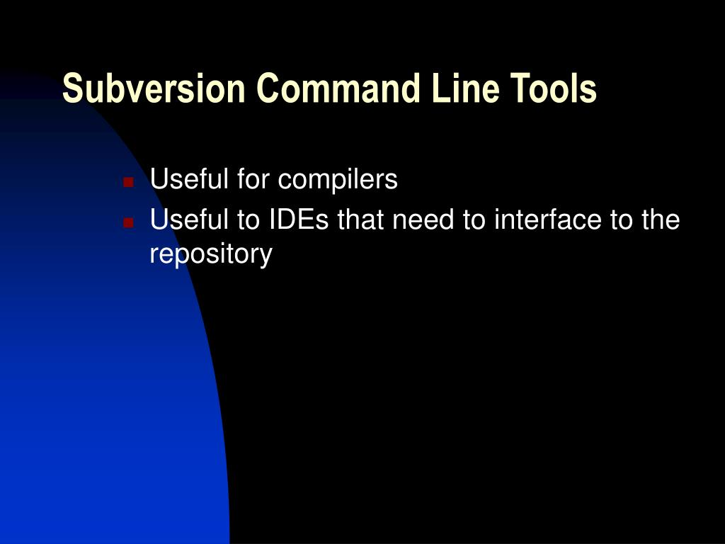 Subversion Command Line Tools