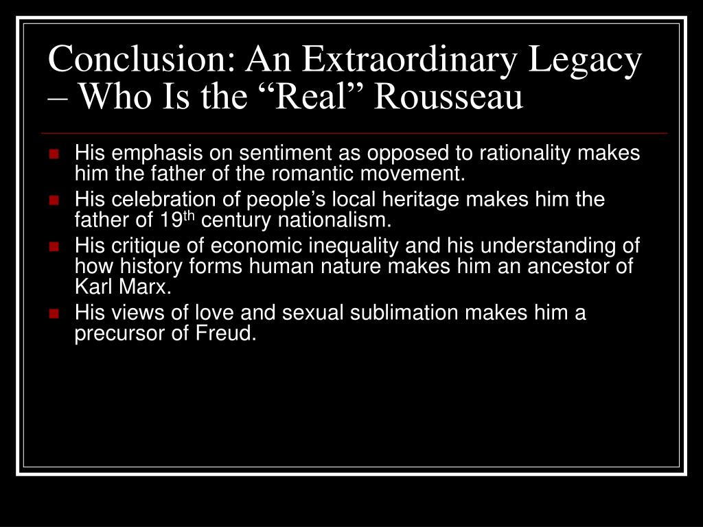 "Conclusion: An Extraordinary Legacy – Who Is the ""Real"" Rousseau"