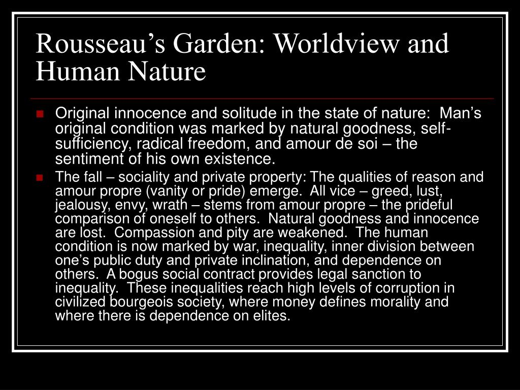 Rousseau's Garden: Worldview and Human Nature