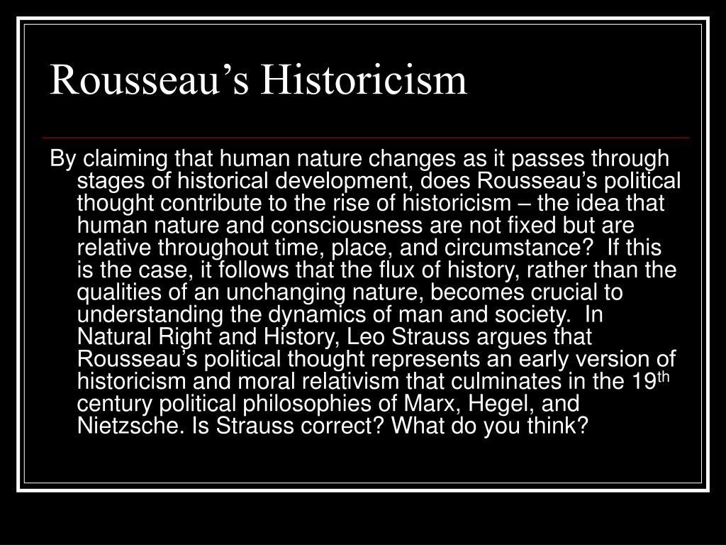 Rousseau's Historicism