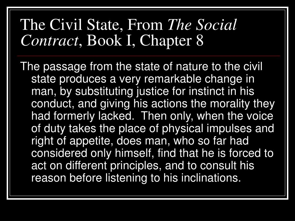 The Civil State, From