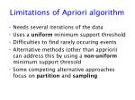 limitations of apriori algorithm