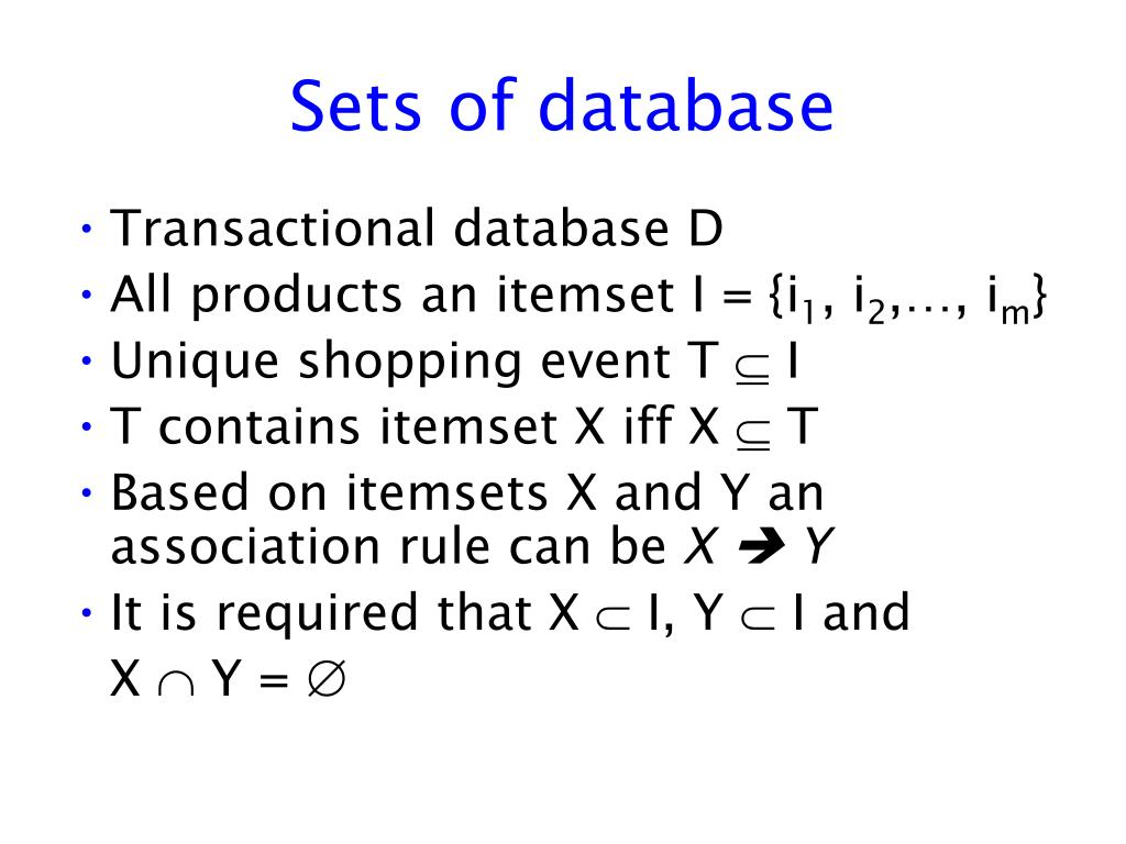 Sets of database