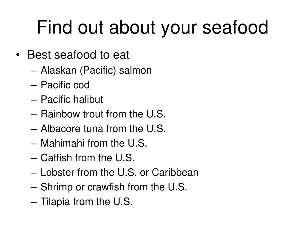 Find out about your seafood