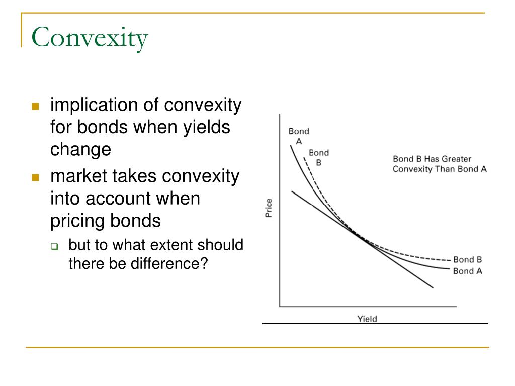 implication of convexity for bonds when yields change