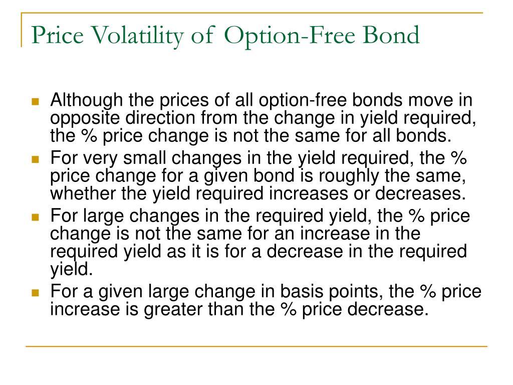 Price Volatility of Option-Free Bond