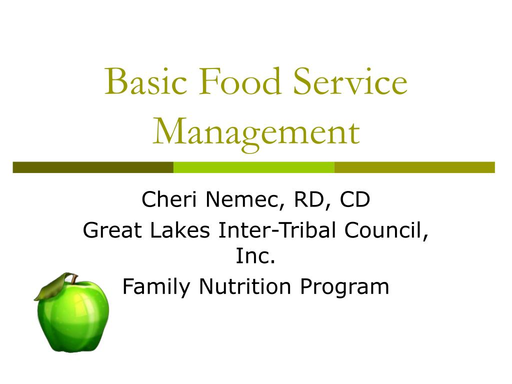 Basic Food Service Management